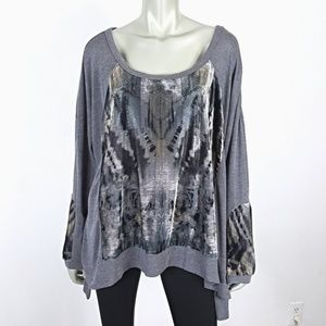 Plus Size 2X Soft Stretch Velour Long Sleeve Top